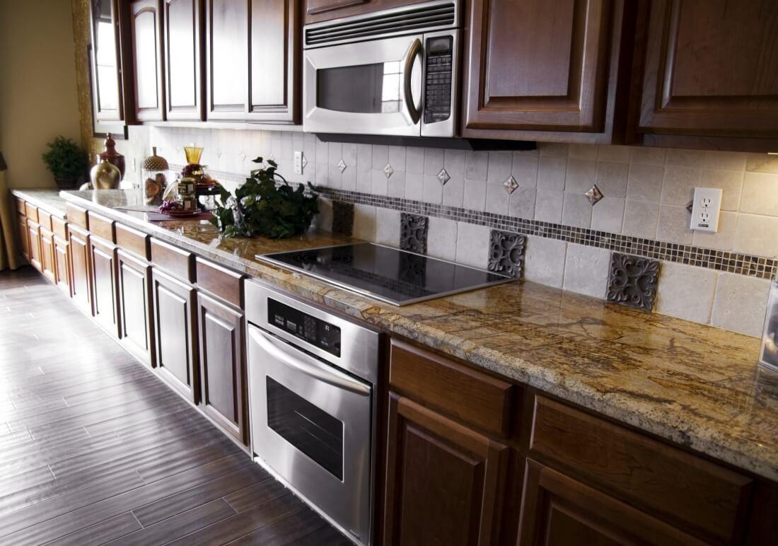 dark hardwood floor kitchens most popular home design
